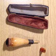 Pfeife Mundstück Pipe mit Zubehör