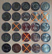 2 Euro Gedenkmünzen 2004-2021 ab