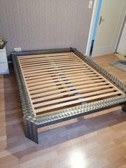 Edelstahl Bett 140x200 Einzelstück