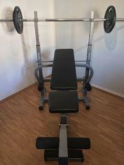 Fitness Taurus Hantelbank mit Gewichten