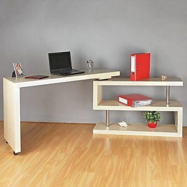 Winkelschreibtisch Sekretar Schreibtisch Regal Computertisch Neu Und