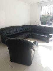 -- Echt Leder Couch --