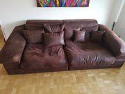 Couch Sofa Wohnlandschaft Braun Polstermöbel
