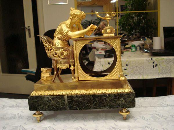 Pendule Empire Bronze feuervergoldet