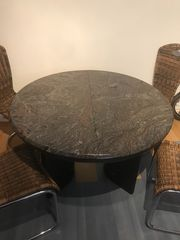Esstisch rund Granit