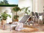 Gartenliege Polywood grau NARDO neu -