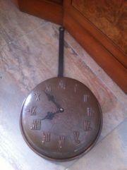 aus Nachlass - Uhr Wanduhr Kupfertiegel