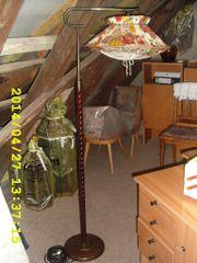Rarität 1950er-50er Jahre Stehlampe-Lampe-Igelit Lampenschirm-Vintage-Antik-Retro-Rockabilly-DDR