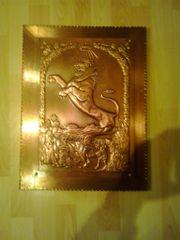 Kupferbild Motiv Löwe 38cm x
