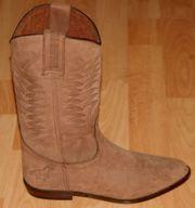 Stiefel - Größe 38 - Western - Stil - Wildleder