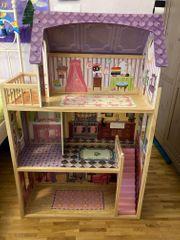 XXL Puppenhaus mit Möbel für