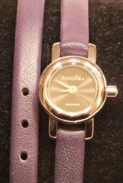 Pandora Uhr Wickelarmbanduhr Lederarmband violet
