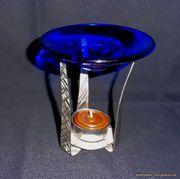 Edelstahl Glas Teelicht Aromalampe Duftlampe