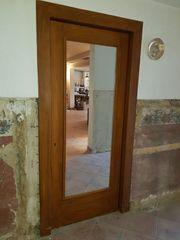 Antik Großer Wandpiegel Tür mit