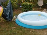 pool mit Abdeckplane