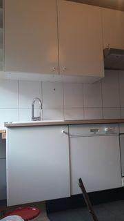 Einbauküche zweizeilig weiß