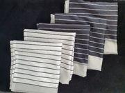 5 Flächenvorhänge Schals in schwarz