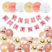 NEU Geburtstagsdeko Set Rose Gold