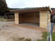 Stahl Holz Weidehütte Weidezelt 6