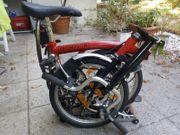 Brompton Faltrad rot 3 Gangschaltung
