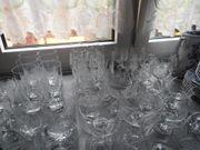 Böhmische Kristallgläser und Schalen