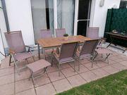 Gartenmöbel-Set 9tlg Alu mit Textilene