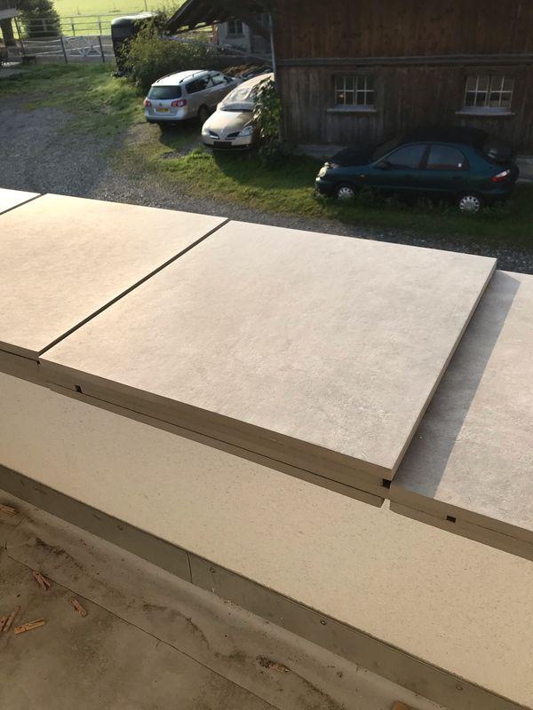 Terrassen Feinsteinzeug 60x60x2