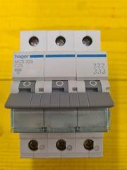HAGER Leitungsschutzschalter MCS325 3 polig