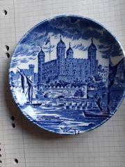 1 kleiner Teller- Glasuntersetzer- blau Windsor