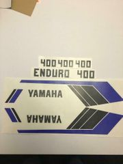 Yamaha DT Enduro Tankaufkleber Seitendeckelaufkleber