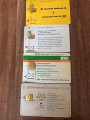 16 alte Telefonkarten