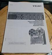 Teac X 2000R Bedienungs Anleitung