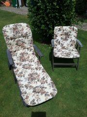 Gartenmöbel Stuhl und Liege