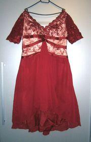 Abendkleid asymmetrisch A-Linie mit Korsett