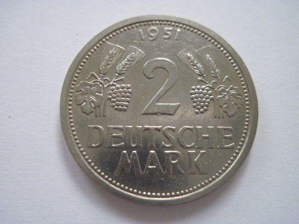 2 Dm Von 1951 J Sehr Seltene Münze In Schwanewede Münzen Kaufen