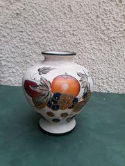 Große Keramik-Vase mit Früchte-Design