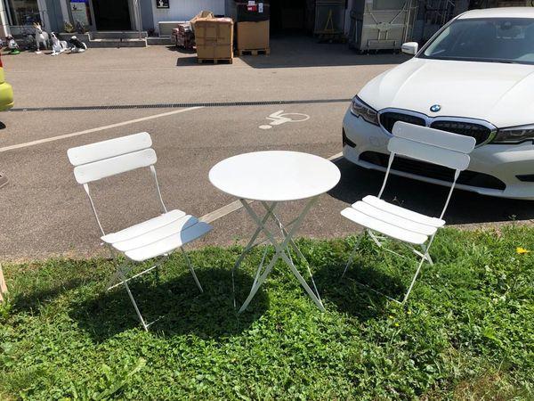 Stühle Gartenmöbel In Set Möbel Metall Bistro Tisch Stuhl Balkon rthQds