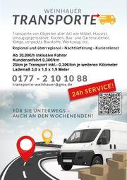 Umzugshelfer Transporter Möbeltransport Kurier Motorradtransport