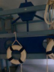 blaues Hochbett mit Leiter Schaukel
