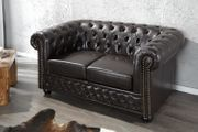 NEU Sofa Chesterfield 2er dark