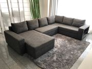 XXL - Wohnlandschaft Schlafsofa Couch mit
