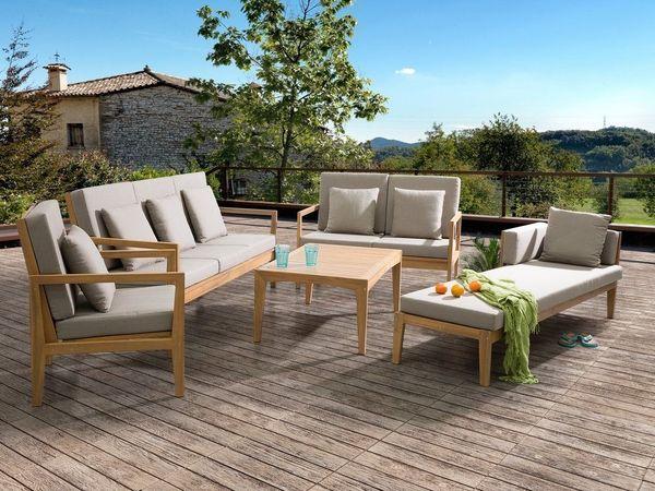 Gartenmöbel Set Holz Lounge ~ Lounge set holz braun sitzer auflagen grau pataja beliani in