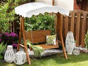 Gartenschaukel Sonnendach beige ANDRIA neu -