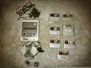 Super Nintendo mit vielen Spielen -