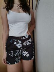 Leichte Blumen Shorts XS