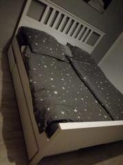 Hemnes Bett weiß gebeizt