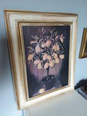 Bild auf Holz Zitronenbaum Gemälde