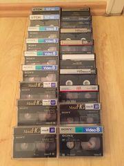 Hi8 Kassetten insgesamt 20 Stück