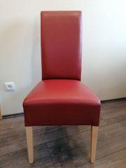 Neuwertige Esszimmerstühle rot