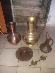 Kupfervase kupferießkanne Messingbehälter Schirmständer